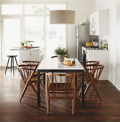parsons table walnut soren chairs by r b modern