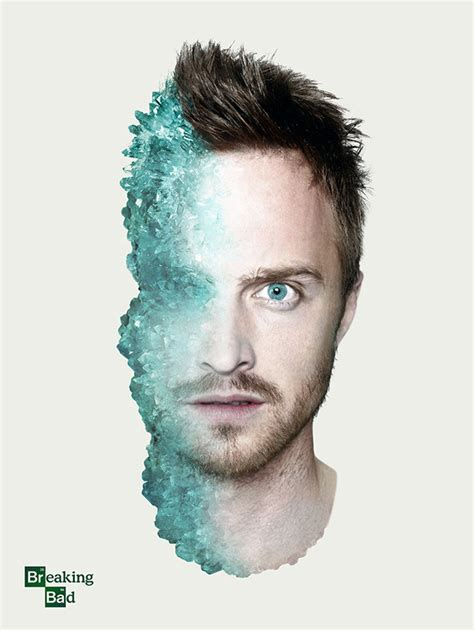 aaron paul designs breaking bad poster designs senses lost