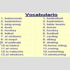 Vocabulario  Prueba El 21 De Octubre  Year 8 Spanish