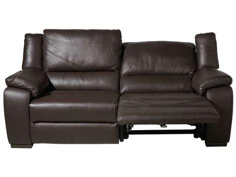 canapé fixe relaxation électrique 3 places en cuir