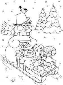 winter season coloring page  vaerityskuvat joulu