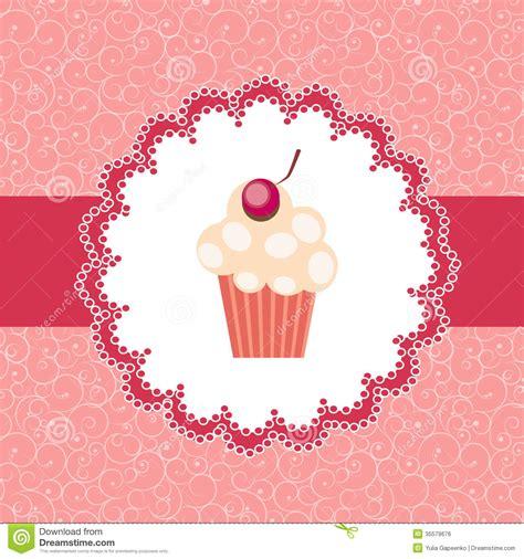 cupcake invitation background royalty  stock image