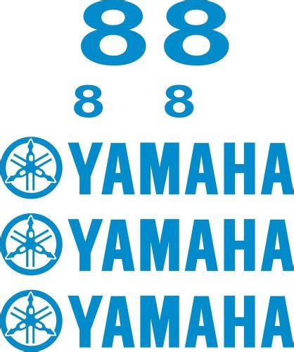 Yamaha Outboard Motor Decals For Sale by Sell Yamaha Outboard Boat Motor Decal Kit 8 Hp Decal