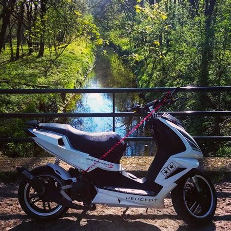 black white peugeot speedfight 3 70cc tuning scooter black white chang e 3