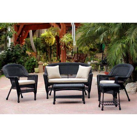 Resin Loveseat Patio Furniture by 5 Black Resin Wicker Patio Chair Loveseat Table