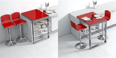 table de cuisine modulable une table bar modulable qui se glisse sur votre plan de