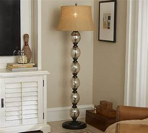 stacked mercury glass floor lamp base pottery barn With pottery barn floor lamp glass