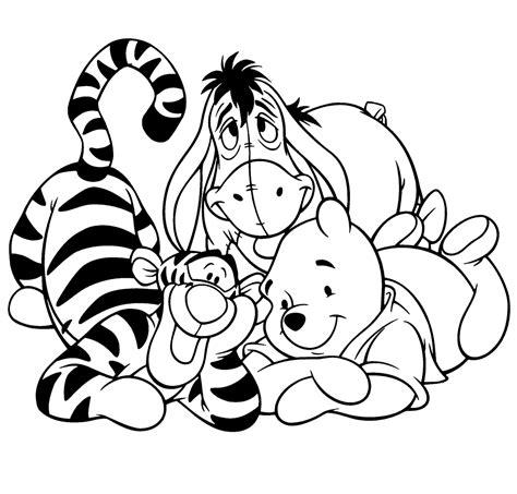 Kleurplaat Winnie The Pooh Baby by Leuk Voor Teigertje Eeyore En Poohbeer