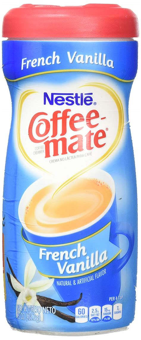 Per 1 tablespoon (12 g). Creamers & Whitners - Nestle Coffee Mate French Vanilla ...