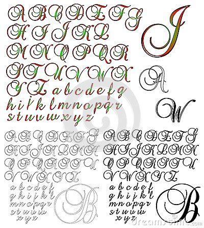 Conception De Lettrage D'alphabet D'abc Brock 1 Combiné