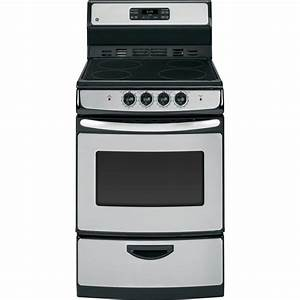 Ge 24 In  3 0 Cu  Ft  Electric Range With Self-cleaning Oven In Stainless Steel-ja624rnss