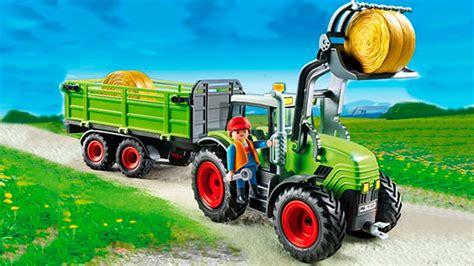 Tracteur Et Camion Sur La Ferme Pour Les Enfants Dessin