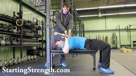 Bench Press Leg Drive by Log Starting Strength