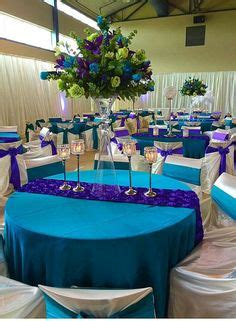 peacock purple turquoise wedding decor my peacock