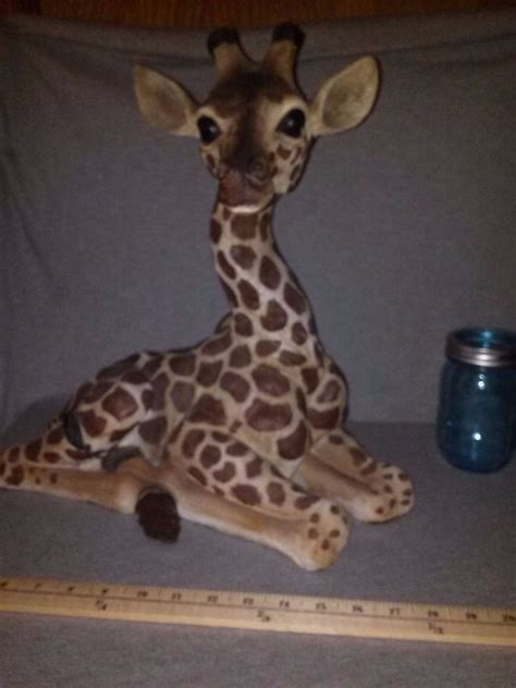 Giraffe Decorations - giraffe statue 16 quot realistic handpainted safari