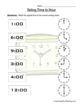 Telling Time To The Hour Clock Worksheet  April  Pinterest  Telling Time, Worksheets And Clocks