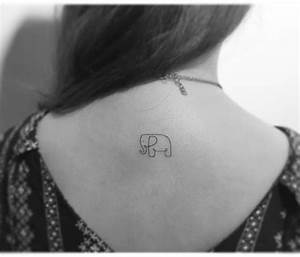 Tatouage Minimaliste : tatouage elephant minimaliste ~ Melissatoandfro.com Idées de Décoration