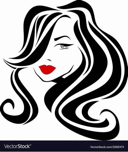 Lips Hair Vector Wavy