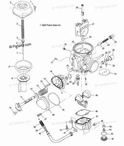 Polaris Atv 2005 Oem Parts Diagram For Carburetor   Ac  Ag