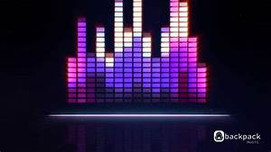 Cool Background Music with graphics equalizer