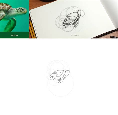 minimalistic animal logos created using circular geometry and line forms designtaxi com