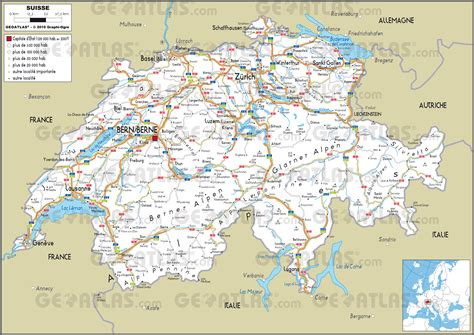 Carte Suisse by Suisse Preview Maps