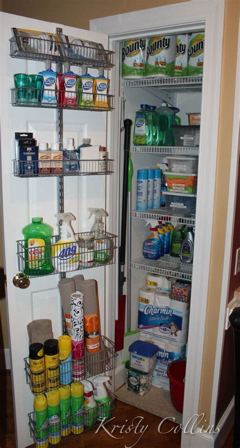 my cleaning supply closet my organization projects in