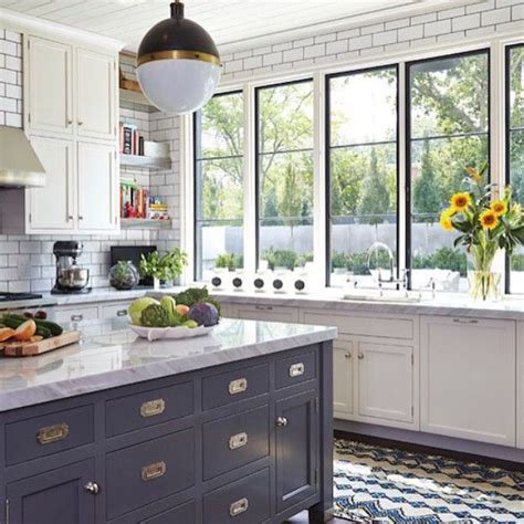 Kitchen Designed Comfort by Becki Owens Blue And White Kitchen With Open Shelving