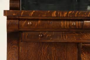 Empire Oak 1900 Antique Sideboard Gallery Mirror