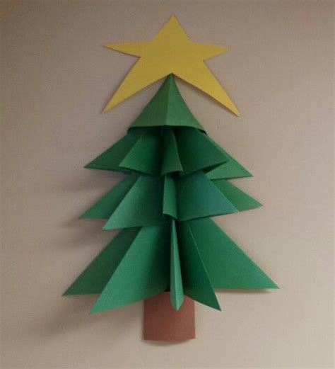 3d paper christmas tree kid s crafts pinterest