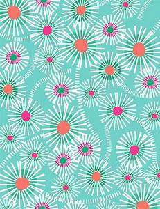 Turquoise and flowers background   Wallpapers.com ...