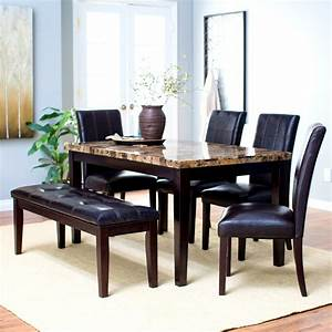 extendable dining room table with 6 chairs cheap With round dining room table sets for 6