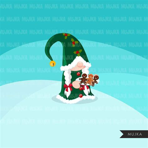 Download beary merry christmas sublimation clipart (1077075) today! Christmas Santa gnomes Clipart, Scandinavian Gnome ...