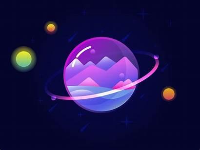 Planet Vector Illustration Glass Illustrator Dribbble Digital