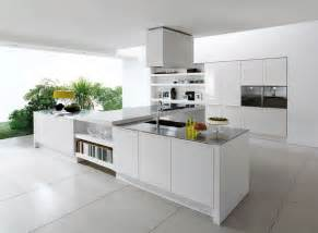 modern kitchen ideas with white cabinets alluring sleek white ceramic floor tile for contemporary kitchen decor combine t shape cooking