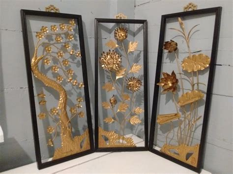 Our global assortment of wall décor and decorations offers intricate metalwork, carved wood and modern décor design from every corner of the earth. Art, Floral, Framed, 3D, Wall Art, Metal, Sculpture, Set of 3, Mid Century Modern, Asian Decor ...
