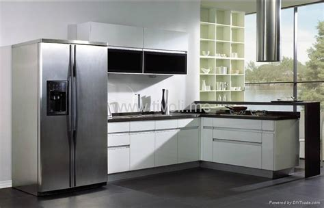 kitchen cabinets white lacquered glossy  modern