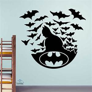 batman with bats wall sticker kids decal children room With kids wall decals