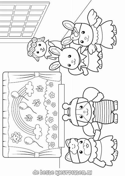 Calico Coloring Critters Pages Sylvanian Families Printable