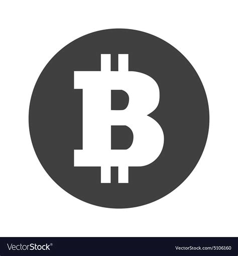 Free vector icons in svg, psd, png, eps and icon font. Monochrome round bitcoin icon Royalty Free Vector Image