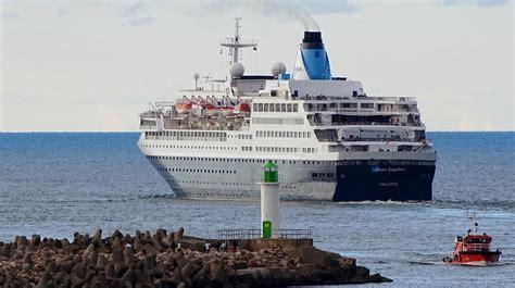 Ventspils ostā piestās iespaidīgs kruīza kuģis ...