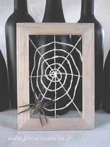 Cadre En Toile : cadre toile d 39 araign e diy halloween f tes vous m me ~ Teatrodelosmanantiales.com Idées de Décoration