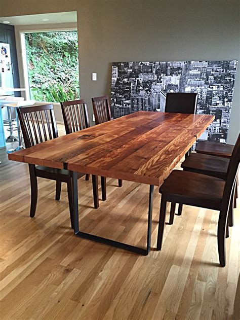 fremont reclaimed douglas fir dining table stumptown
