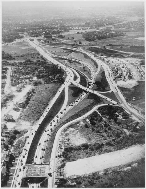 File:Aerial view of a complex of Long Island highways that ...