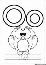 Coloring Alphabet Pages Owl Letter Letters Englishforkidz Penguin sketch template
