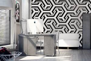 Papier Peint Bureau : oser une ambiance ultra design gr ce au papier peint 3d ~ Melissatoandfro.com Idées de Décoration