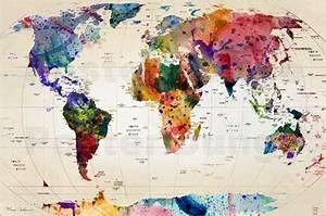 Weltkarte Poster Kinder : geografie poster online bestellen gratisversand ~ Yasmunasinghe.com Haus und Dekorationen