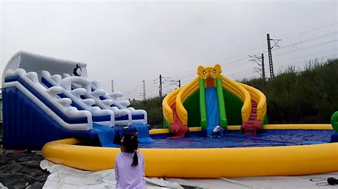 backyard water slides for adults outdoor portable water park equipment