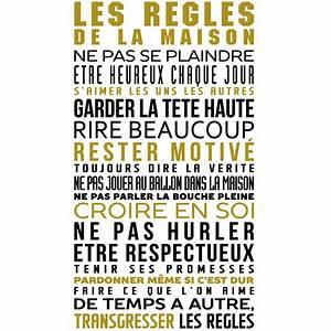 Regle De La Maison A Imprimer : stickers citation les r gles de la maison en couleur ~ Dode.kayakingforconservation.com Idées de Décoration