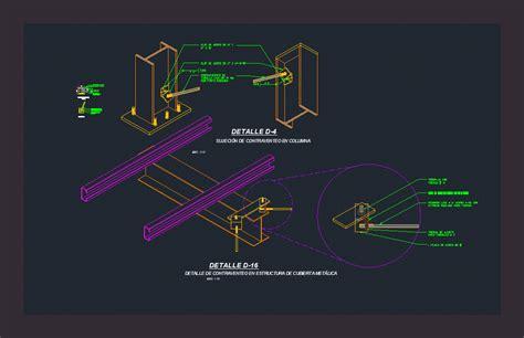 detail  bracing steel columns dwg detail  autocad